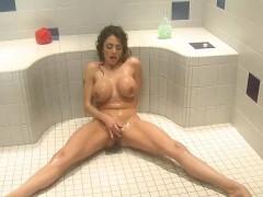 Stacked Ariella Masturbates In The Bathroom