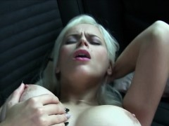 Blonde Gets Cock Between Big Tits In Public