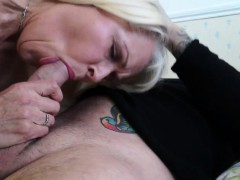 blonde granny gets banged by the tv repairman WWW.ONSEXO.COM
