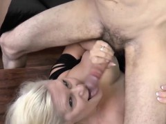 pool boy get dick sucked by horny blonde granny WWW.ONSEXO.COM