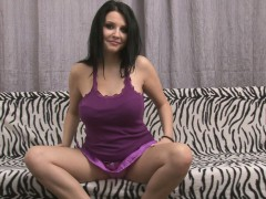 Irresistible Solo Beauty In Purple Gets Kinky