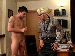 elegant dominatrix live out her fetish humping maid with toy