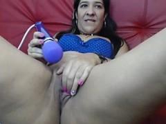 latin woman webcam masturbation