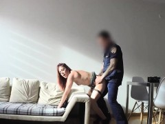 cop-fucks-readhead-slut-on-balcony