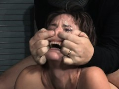 Tiedup Slut Spitroasted In Fearsome Bdsm