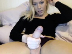 Solo Blonde Shemale Loves To Jerk Off