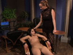 Restrained Sweetie Humiliated By Dominatrix