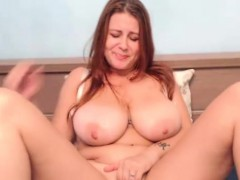 Cam Solo Show With Attractive Huge Natural Tits Camgirl
