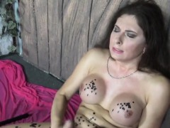 busty-russian-trans-uses-hot-wax-and-candles