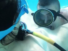 Candy Being Licked Underwater