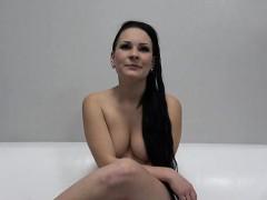 sexy pornstar casting with facial