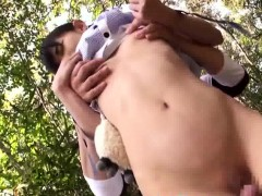 japanese tiny bitch schoolgirl groped rammed outside