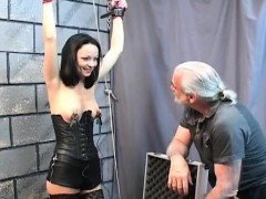 Hawt Female Fucked And Stimulated In Bizarre Servitude