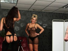 English Voyeur Babes Humiliate Guy With Joi