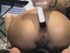 Beer Bottle Anal And Vaginal Insertion For Skinny Indian