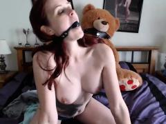 Redhead fishnet pantyhose fetish JOI jerk off instructions