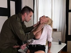 Russian Milf Spanking And Cum On Pussy