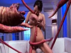 Tentacles Shot Liters Of Cum On Her!