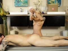 Pretty Blonde Masseuse Pussy Banged By Her Nasty Client
