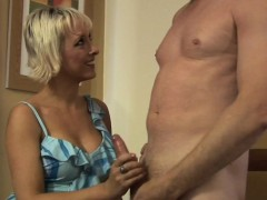 dominant cfnm milf teasing and tugging penis WWW.ONSEXO.COM