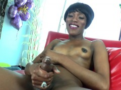 natural-black-tgirl-milks-her-cock-solo