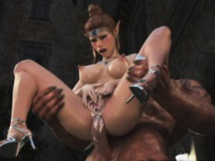 3d orcs banging a sexy elf! WWW.ONSEXO.COM