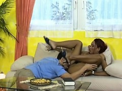 African Babe Gets Shaved Cunt Licked And Banged