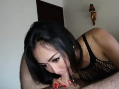 Gorgeous Ladyboy Amazing Bareback Anal After A Blowjob