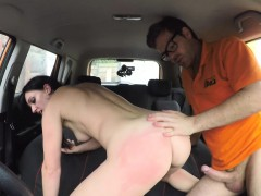 fake driving school messy creampie climax