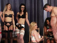 Lingerie Femdoms Dominating Subs With Hj Race