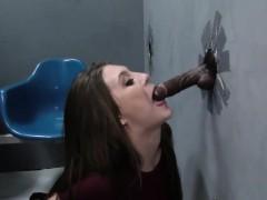 gloryhole slut gives head