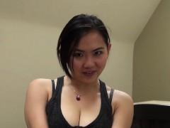 Cute Asian Teen Gives A Blowjob