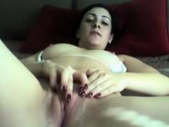 Feeling Horny Teen Fingering Pussy On Webcam