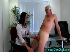 horny-office-dick-cfnm-handjob