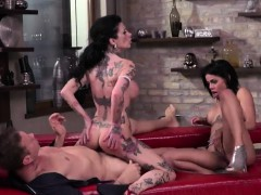 Tattooed Woman Megan T And Colombian Cutie Canela A2m