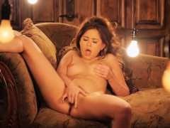 This Naughty Babe Masturbates After Striping Everything Off