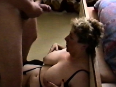 Fat Milf Gets Jizzed On Her Huge Saggy Tits