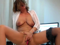 Sophisticated Amateur Milf Rubs And Fingers Her Sweet Vagina