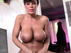 busty-lisaann-vibrates-her-shaved-pussy