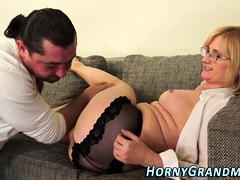 Old Granny Has Anal Sex
