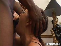 horny cheyenne hunter sucking black cock