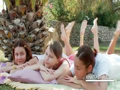 lesbo-teens-stripping-outdoors