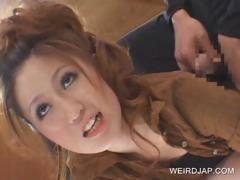 redhead-asian-shows-undies-upskirt