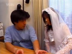 asian-in-bride-dress-touching-her-body