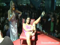 Slutty stripper going wild at the sex show