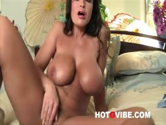lisa-ann-fingers-her-hot-shaved-pussy