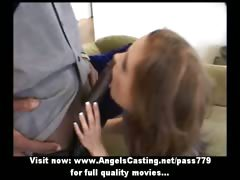 amateur-superb-sexy-redhead-babe-talking-with-a-nigger-guy