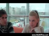 Nasty hot body sexy blonde babe gets part6