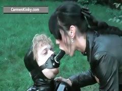 Kinky Carmen Enjoys Having Fun In Latex Part3