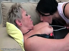 Sweet Young Brunette Lesbian Is Kissing Part6